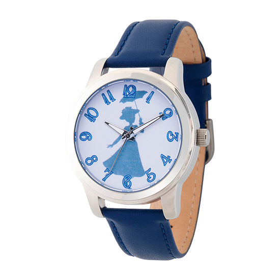 Disney Womens Blue Strap Watch-Wds000637