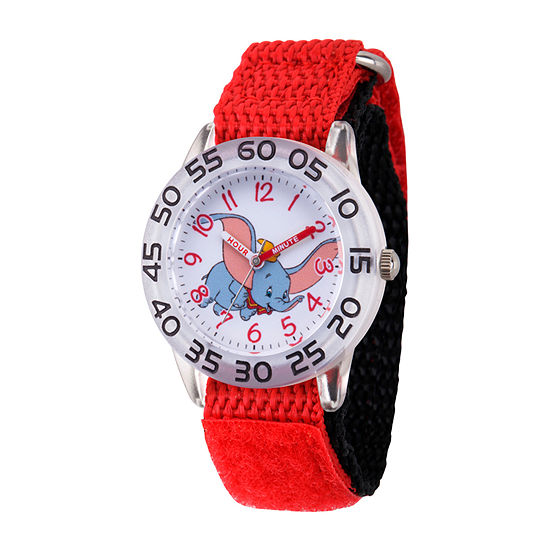 Disney Dumbo Girls Red Strap Watch-Wds000640