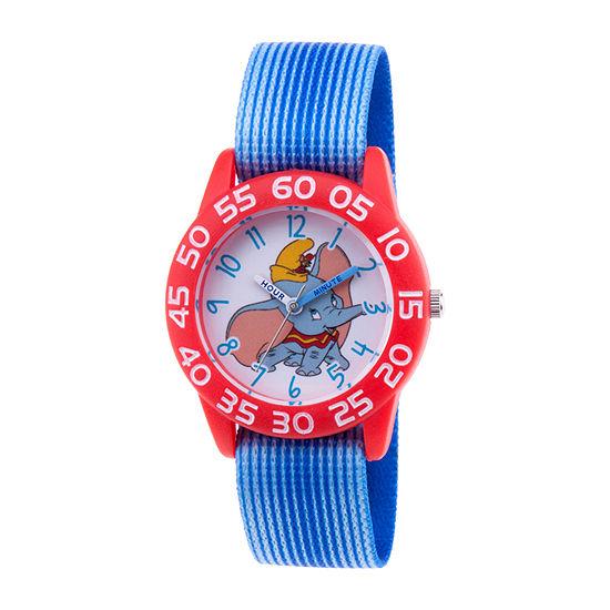 Disney Dumbo Girls Blue Strap Watch-Wds000641