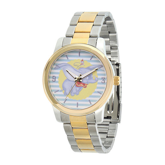 Disney Dumbo Womens Two Tone Stainless Steel Bracelet Watch - Wds000643