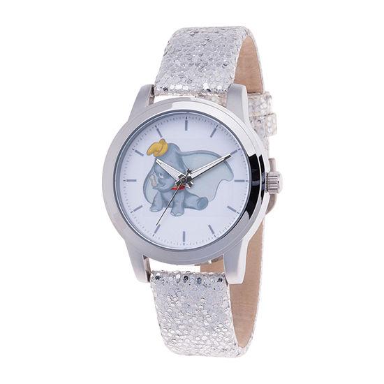 Disney Dumbo Womens Gray Strap Watch-Wds000644