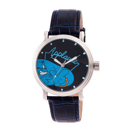 Aladdin Mens Blue Leather Strap Watch-Wds000647