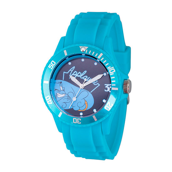 Disney Aladdin Mens Blue Strap Watch-Wds000648
