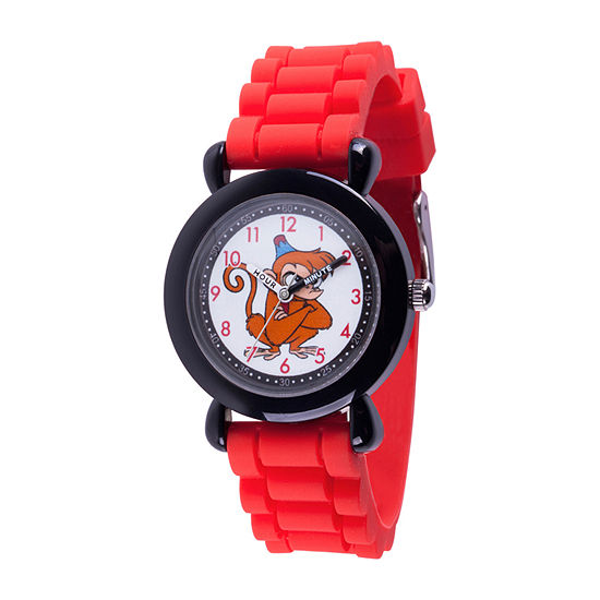 Disney Aladdin Boys Red Strap Watch-Wds000649