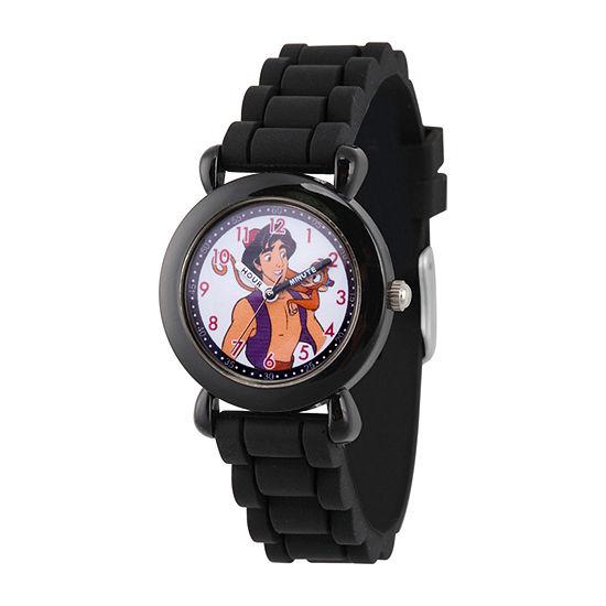 Disney Aladdin Boys Black Strap Watch-Wds000650