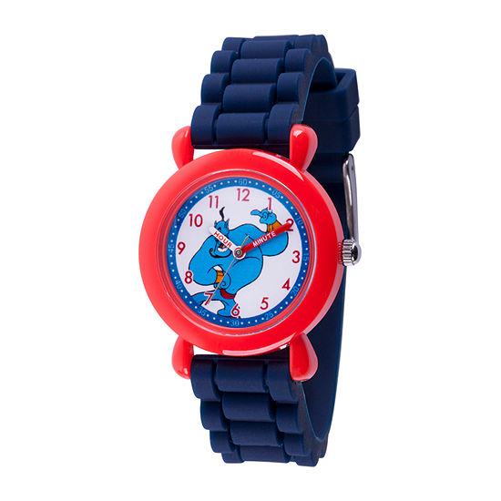 Disney Aladdin Boys Blue Strap Watch-Wds000651