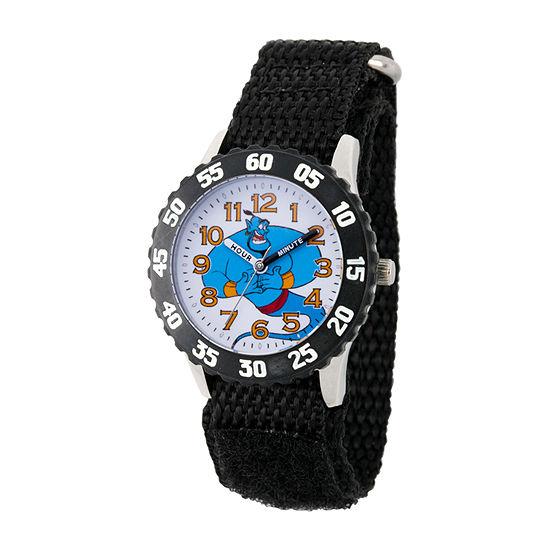 Disney Aladdin Boys Black Strap Watch-Wds000652