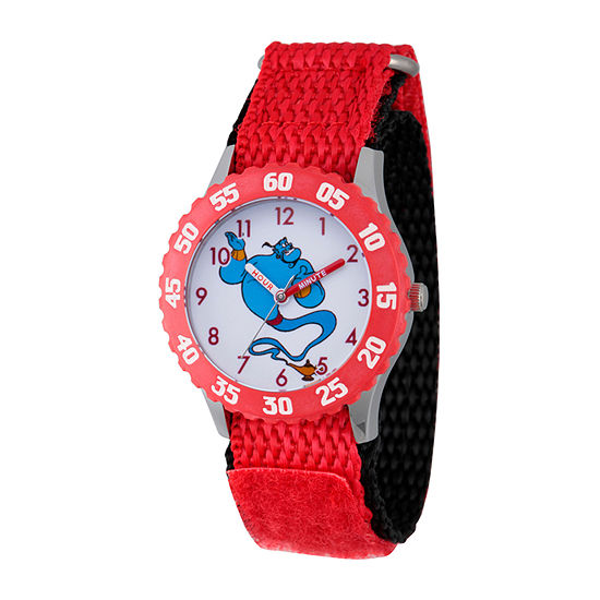 Disney Aladdin Girls Red Strap Watch-Wds000653