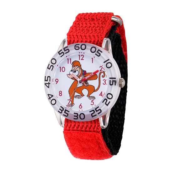 Disney Aladdin Boys Red Strap Watch-Wds000654