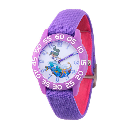 Disney Aladdin Girls Purple Strap Watch-Wds000655