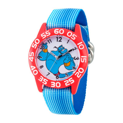 Disney Aladdin Boys Blue Strap Watch-Wds000656