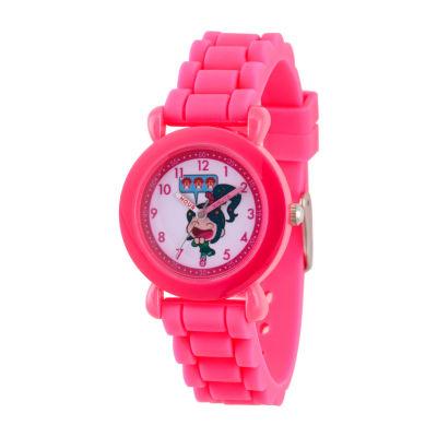 Disney Girls Pink Strap Watch-Wds000657