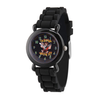 Disney Boys Black Strap Watch-Wds000658