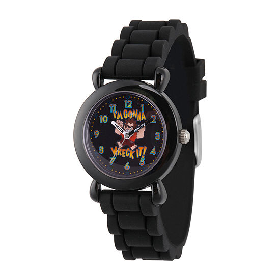 Disney Boys Black Strap Watch-Wds000658