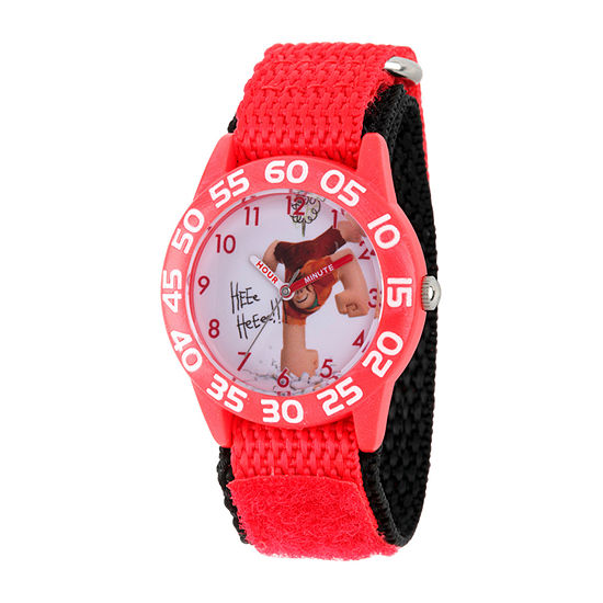 Disney Wreck-It Ralph Boys Red Strap Watch-Wds000661