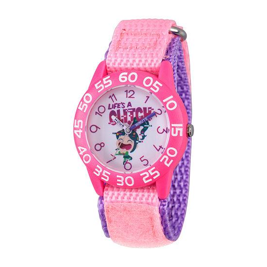 Disney Girls Pink Strap Watch-Wds000662