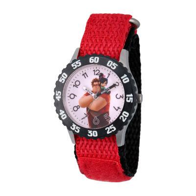 Disney Boys Red Strap Watch-Wds000663