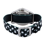 Disney Mickey Mouse Womens Black Strap Watch-Wds000677