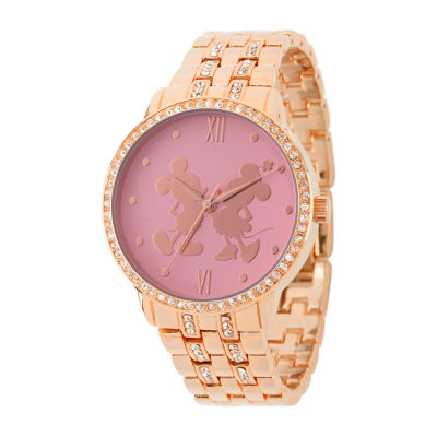 Disney Mickey Mouse Womens Rose Goldtone Bracelet Watch-Wds000680