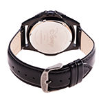 Disney Collection Mickey Mouse Mens Black Leather Strap Watch-Wds000697