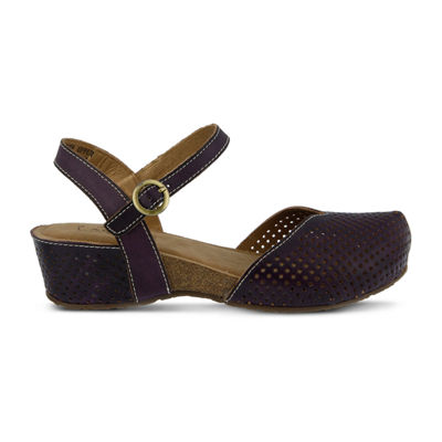 L'Artiste Womens Lizzie Clogs Buckle Closed Toe