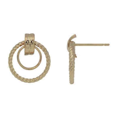 14K Gold 17mm Stud Earrings