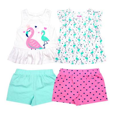 Nanette Baby 4-pc. Short Set Toddler Girls