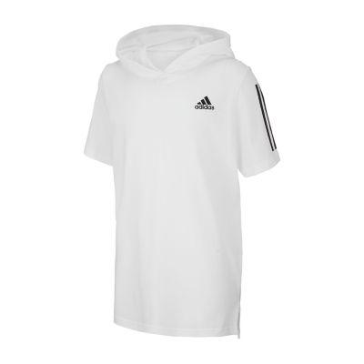 adidas Not Applicable Boys Hooded Neck Short Sleeve Graphic T-Shirt Preschool / Big Kid