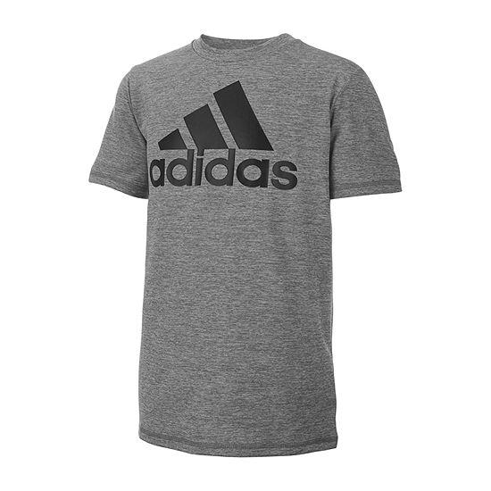 ec459019348 adidas Boys Crew Neck Short Sleeve Graphic T-Shirt Preschool   Big Kid -  JCPenney