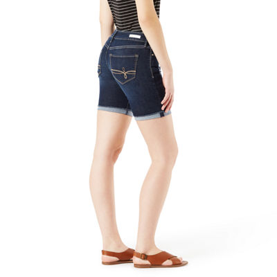 "Denizen Womens Low Rise 7"" Denim Short-Juniors"