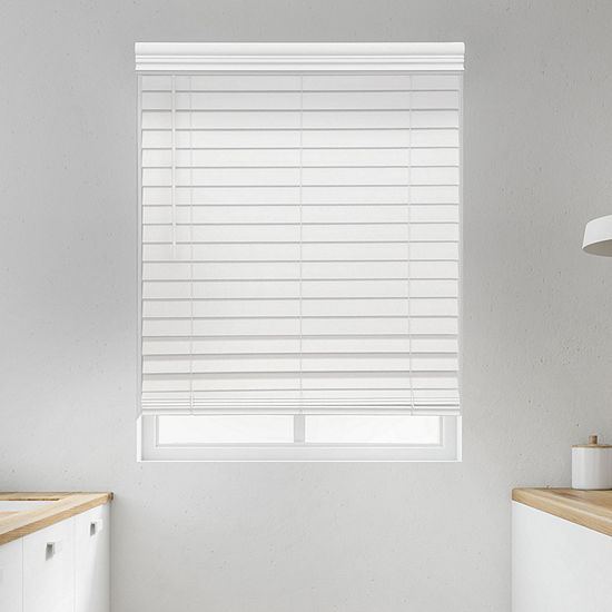"""JCPenney Home Premium 2 1/2"""" Cut-to-Width Cordless Faux Wood Blinds"""