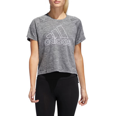 adidas Logo Chest Hit Crew Tee Womens Crew Neck Short Sleeve Graphic T-Shirt