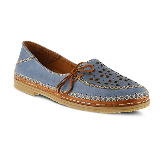 Spring Step Womens Sideway Loafers Slip-on Closed Toe