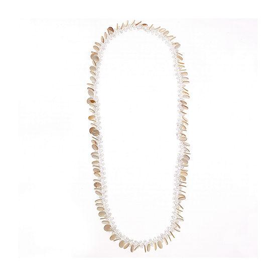 Bijoux Bar White Beaded Necklace