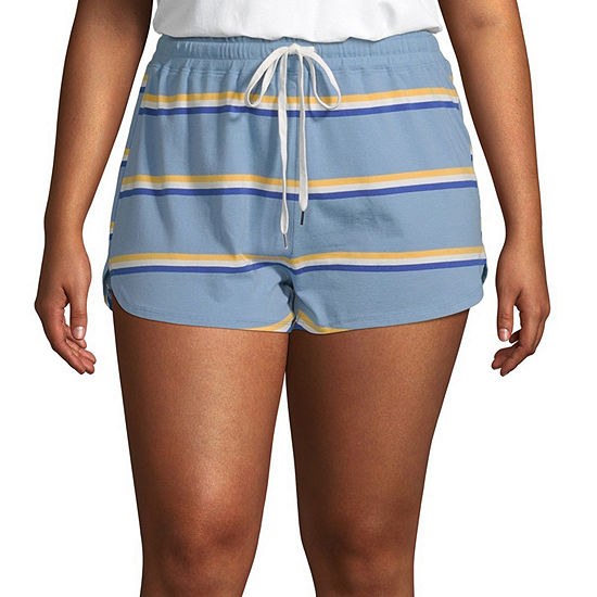 Inspired Hearts Womens Mid Rise Pull-On Short-Juniors