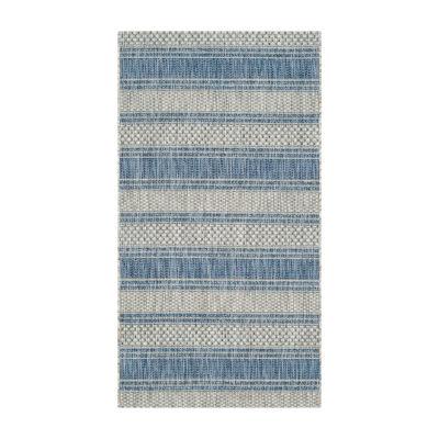 Safavieh Courtyard Collection Jessy Stripe Indoor/Outdoor Area Rug