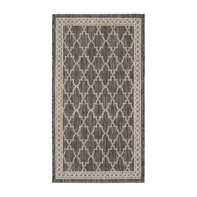 Safavieh Courtyard Collection Keeley Geometric Indoor/Outdoor Area Rug