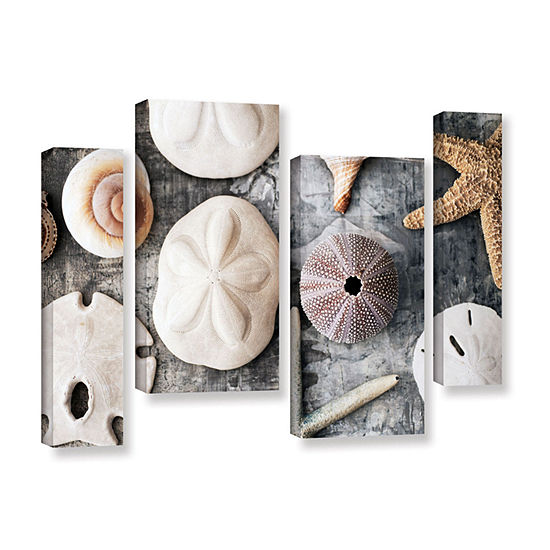 Brushstone Treasures From The Sea 4-pc. Gallery Wrapped Staggered Canvas Wall Art