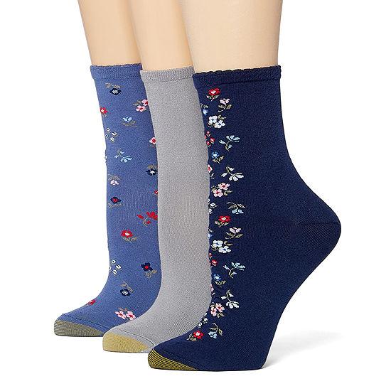 Gold Toe Casual Spring '20 3 Pair Crew Socks Womens