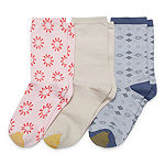 Gold Toe Casual Spring '20 3 Pair Crew Socks Womens