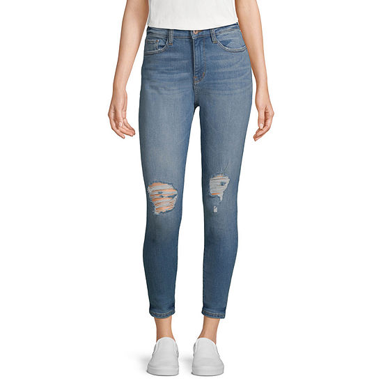 Arizona Womens Mid Rise Ankle Stretch Jeggings - Juniors