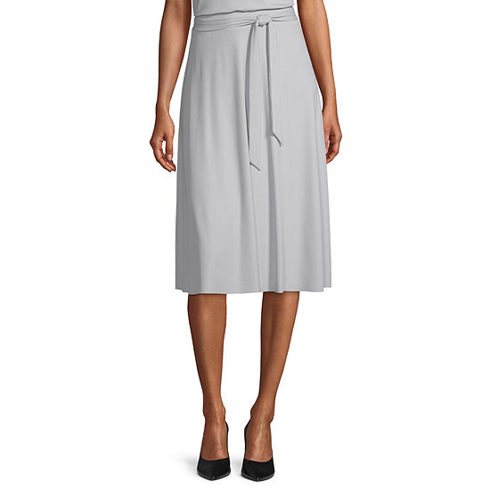 Worthington Womens High Rise Midi A-Line Skirt