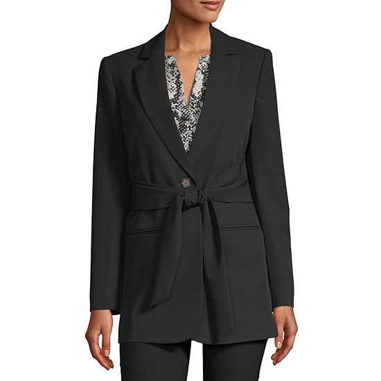 Worthington Womens Regular Fit Twill Blazer