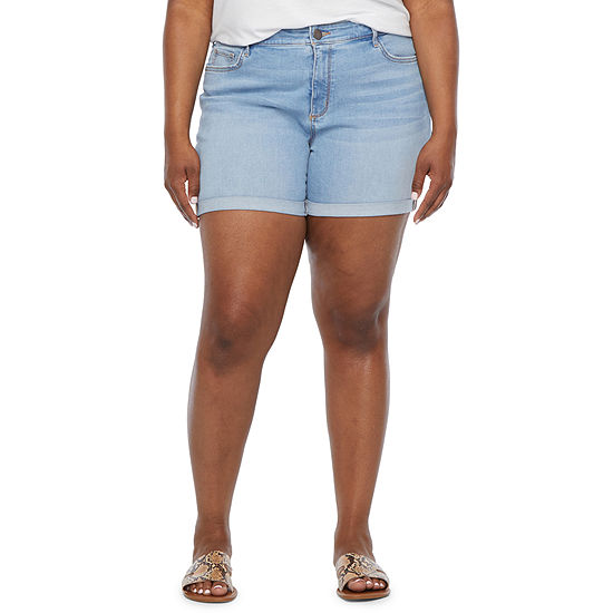 "a.n.a-Plus Womens 6"" Denim Short"