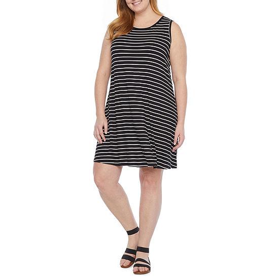 a.n.a-Plus Womens Sleeveless Sheath Dress