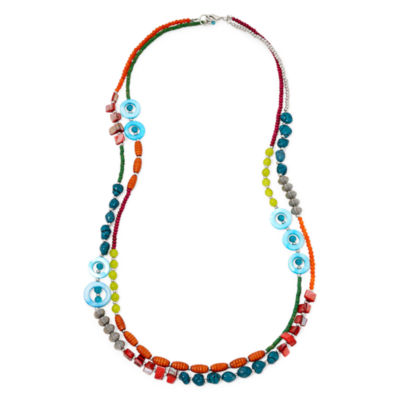 Aris by Treska Multi-Row Pendant Necklace