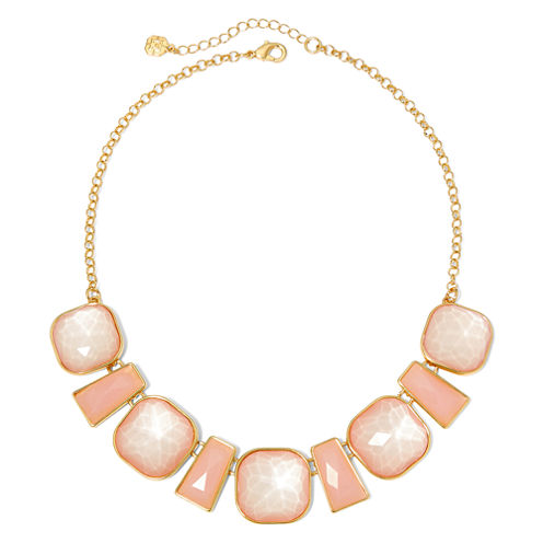 Monet® Pink Stone Gold-Tone Collar Necklace