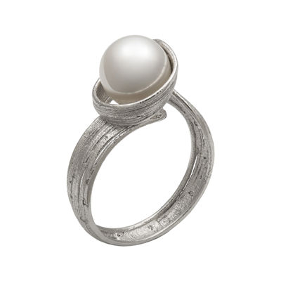 Cultured Freshwater Pearl Sterling Silver Ring