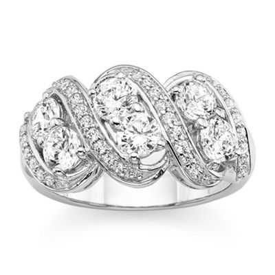 DiamonArt® Cubic Zirconia Sterling Silver Ring