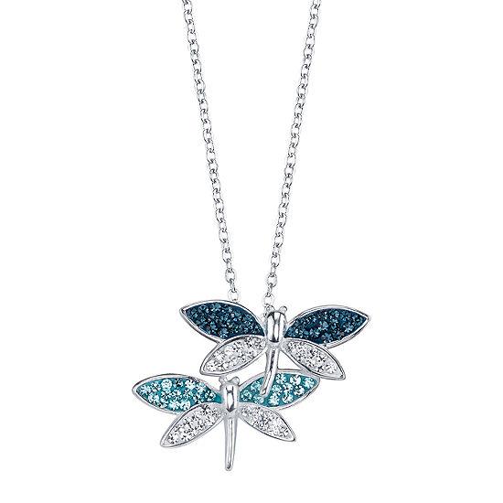 Sparkle Allure Blue Crystal Pendant Necklace